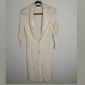 Vintage John Galliano Paris white knit cardigan